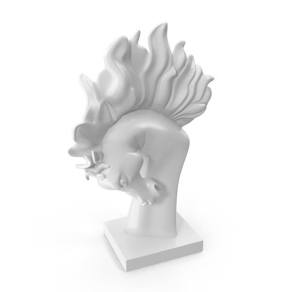 Stallion Head Statue