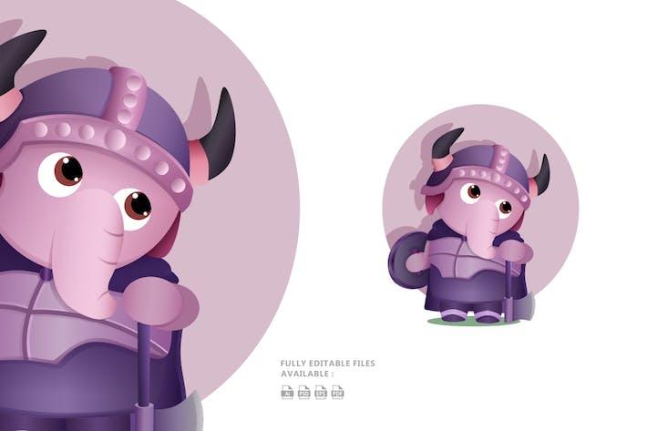 Thumbnail for Elephant Character Illustration