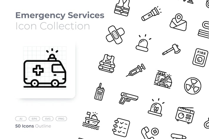 Thumbnail for Emergency Service Outline Icon