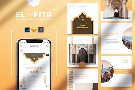 EL FITR Eid Mubarak Instagram & Facebook Post