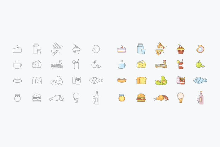 Thumbnail for Set of vector icons about kitchen