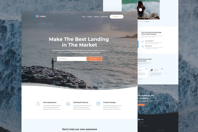 LeData - Responsive Business HTML5 Landing Page - product preview 0