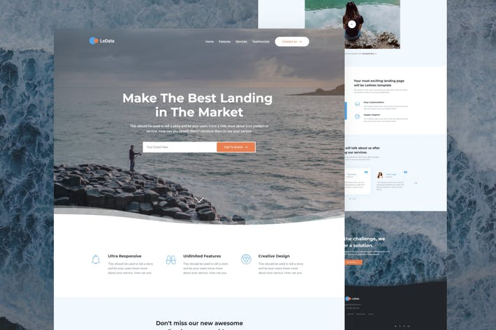 Thumbnail for LeData - Responsive Business HTML5 Landing Page