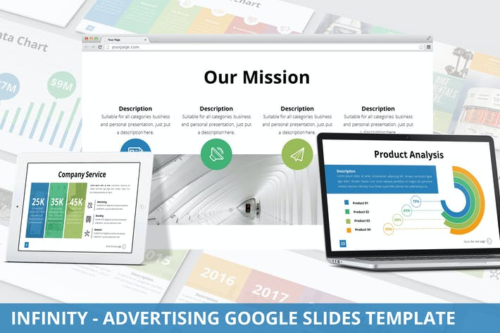 Thumbnail for Infinity - Advertising Google Slides Template