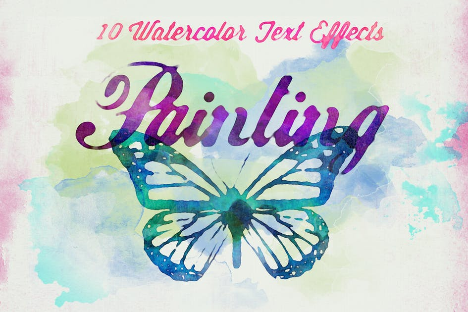 Download Watercolor Text Effects by HyperPix