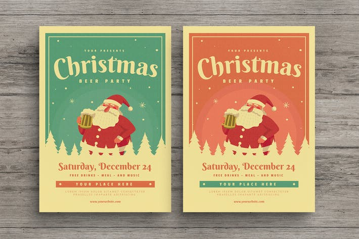 Cover Image For Christmas Beer Event Party Flyer
