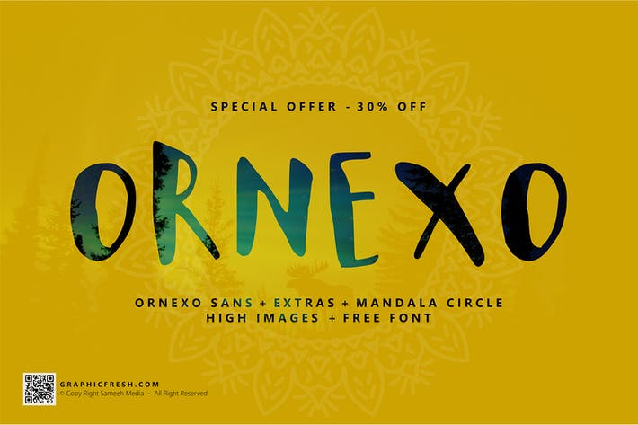 Thumbnail for Ornexo Typeface
