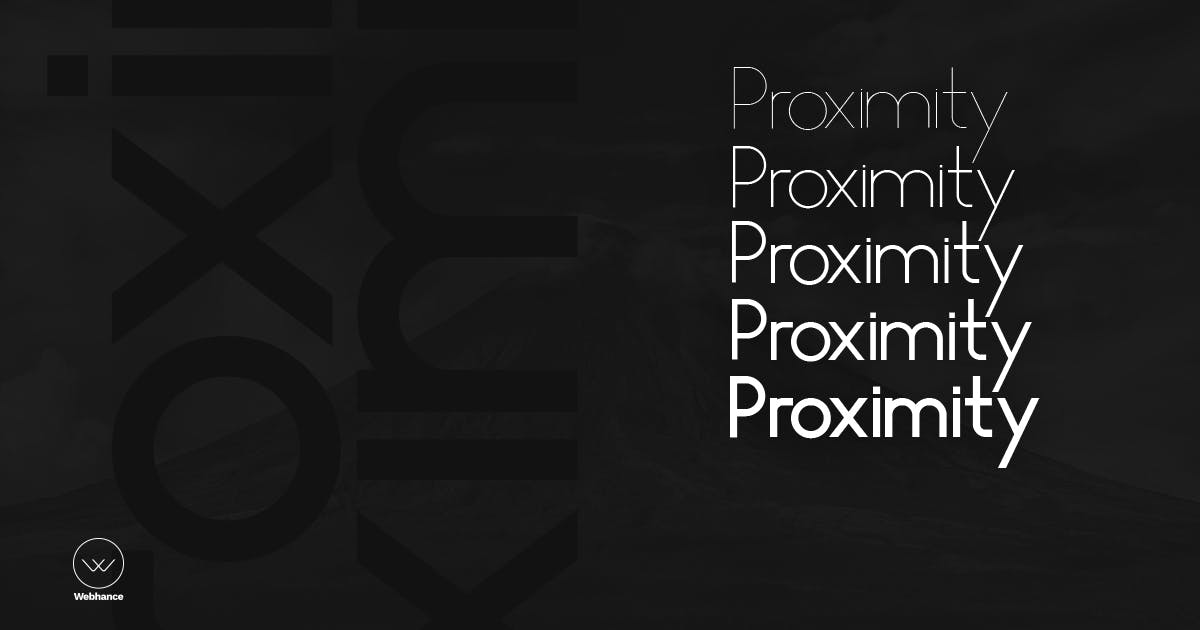 Download Proximity Sans - Unique Typeface + Webfonts by webhance
