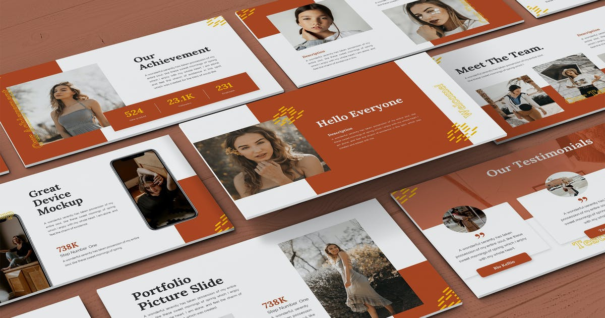 Download Kinetic - Fashion Powerpoint Template by SlideFactory