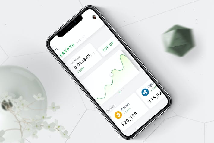Thumbnail for Crypto Wallet Mobile Ui - T