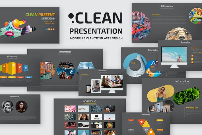 Thumbnail for Clean Keynote Presentation