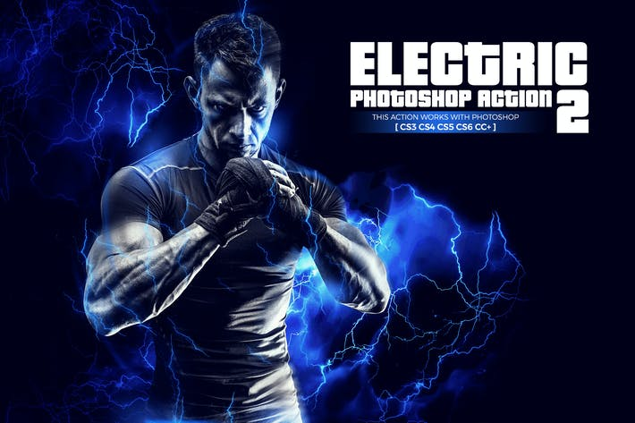 Thumbnail for Electric 2 Photoshop Action