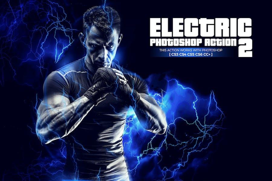 Электрический 2 Photoshop действие