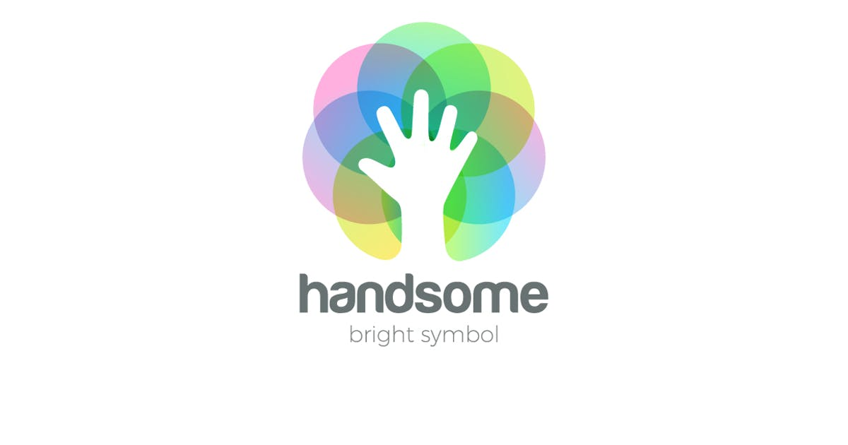 Download Logo Hand Circle Colorful Abstract Negative space by Sentavio
