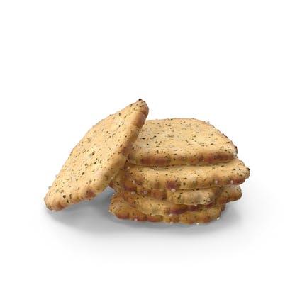 Small Pile of Mini Rhombus Crackers with Seasoning