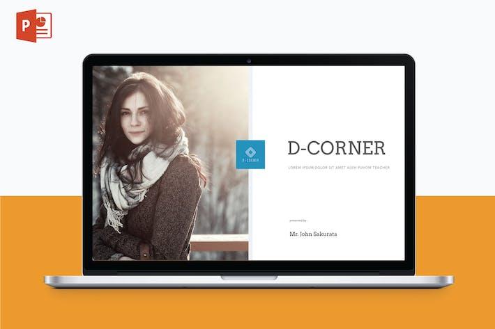 Cover Image For D CORNER - Multipurpose PowerPoint Template V7