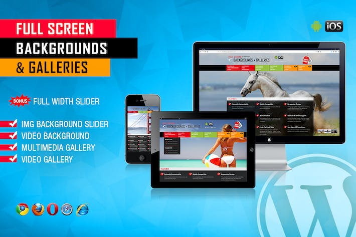 Thumbnail for Image and Video FullScreen Background WP Plugin