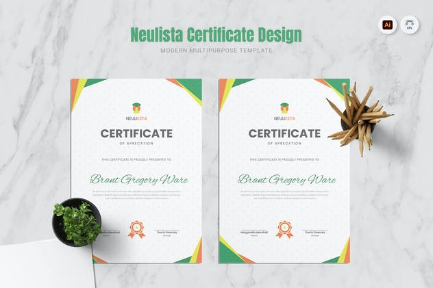 Neulista Certificate