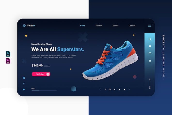 Thumbnail for Shoesta | Landing Page
