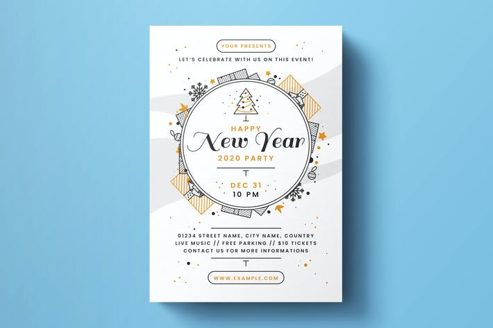 Thumbnail for New Year Flyer Template