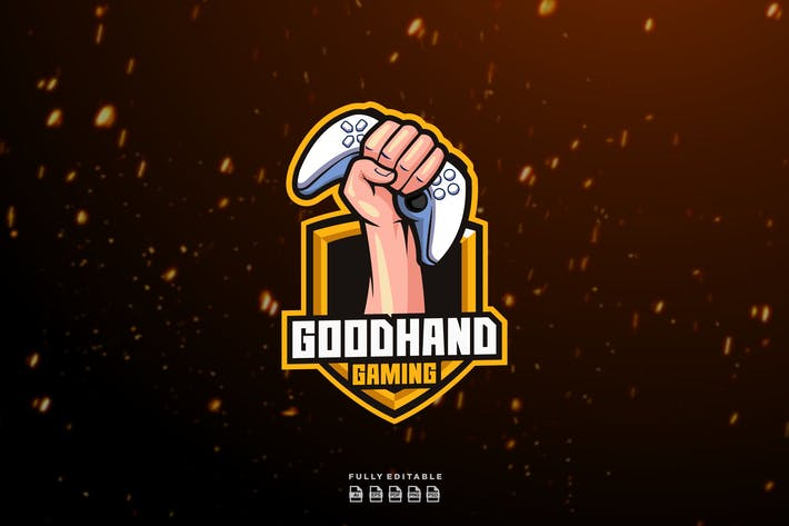 Thumbnail for Game Controller Hand Logo