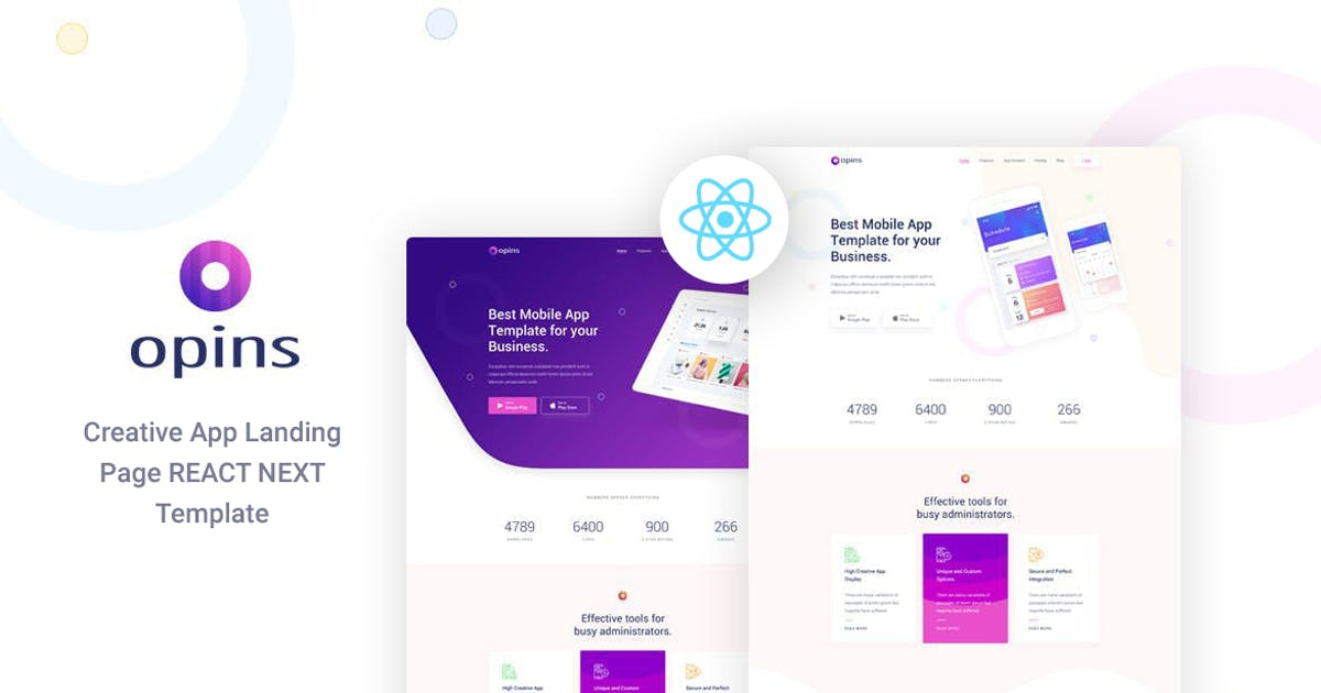Download Opins - React Next App Landing Page Template by Layerdrops