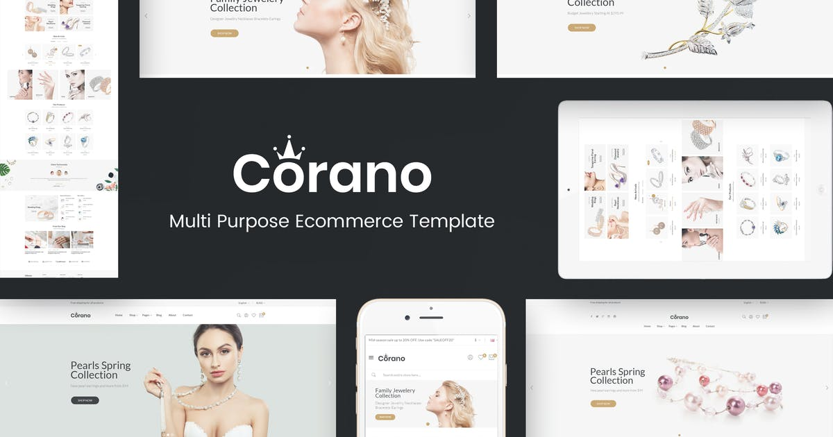 Download Corano - Jewellery Responsive Prestashop Theme by Plaza-Themes