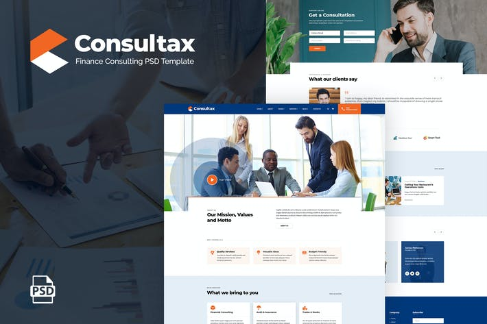 Thumbnail for Consultax | Finance Consulting PSD Template