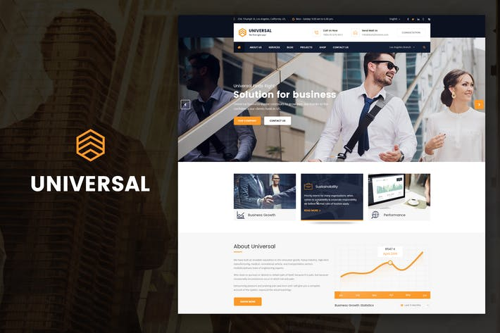 Thumbnail for Universal - Business, Consulting Drupal Thème