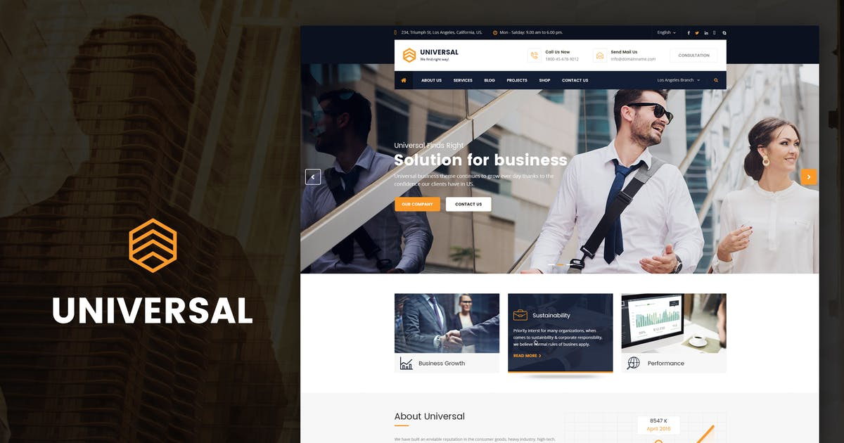 Download Universal - Business, Consulting Drupal Theme by SteelThemes
