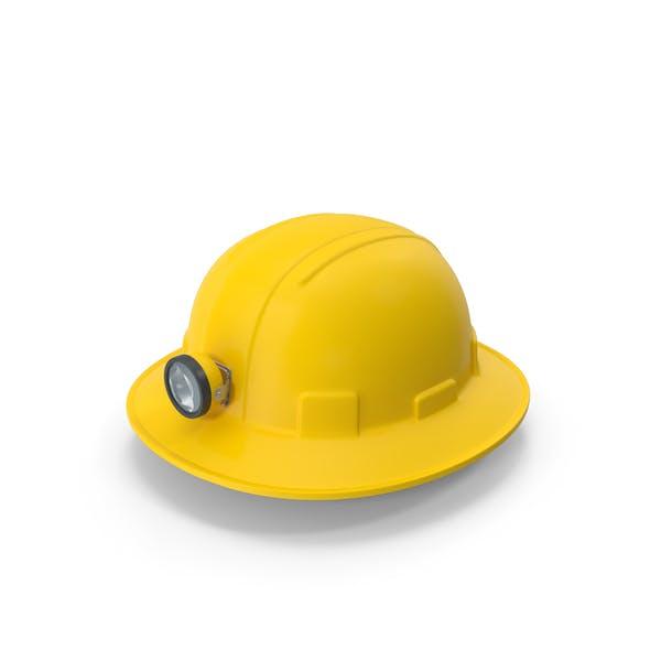 Жесткий шляпа шахтеров с полными полями