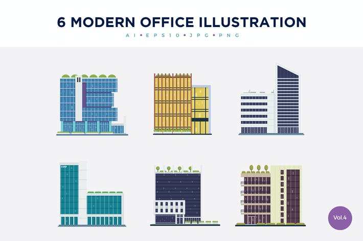 Thumbnail for 6 Modern Office Vector Illustration Set 4