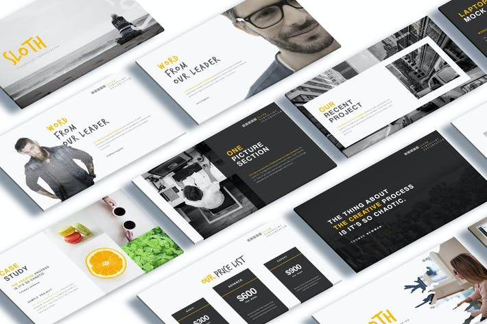 Sloth creative agency powerpoint template by giantdesign on envato sloth creative agency powerpoint template toneelgroepblik Choice Image