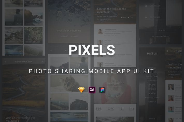 Thumbnail for Pixels - Photo Sharing Mobile App