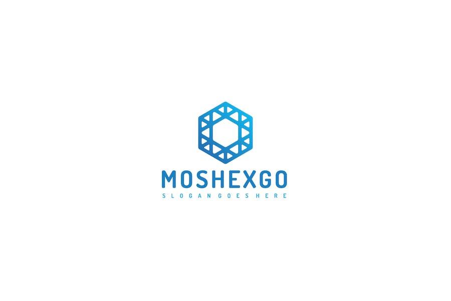 Мозаика с шестигранным Логотип