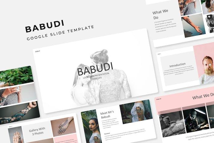 Thumbnail for Babudi - Google Slide Template