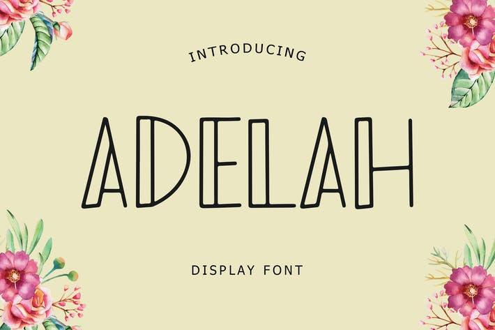 Thumbnail for Adelah Display Font