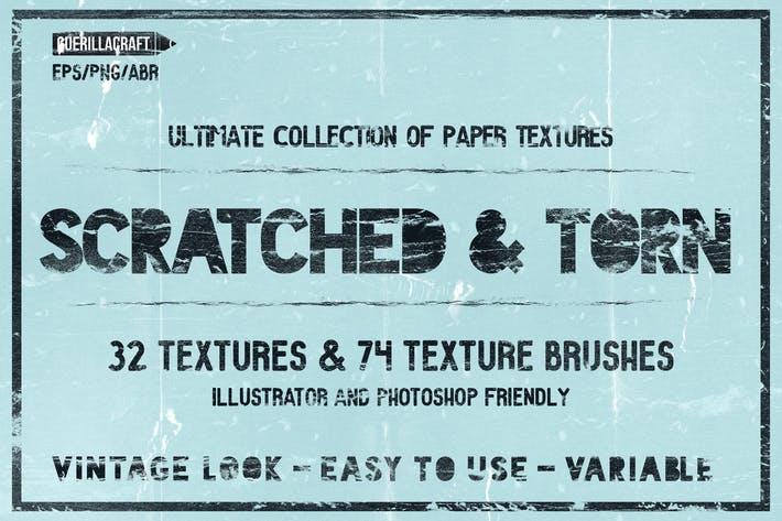 Thumbnail for Scratched and Torn Paper Textures