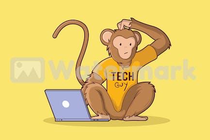 Technischer Affe