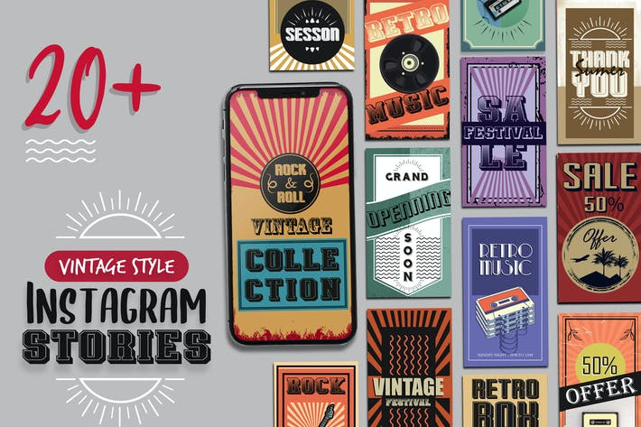 Thumbnail for Vintage Style Instagram Stories Template