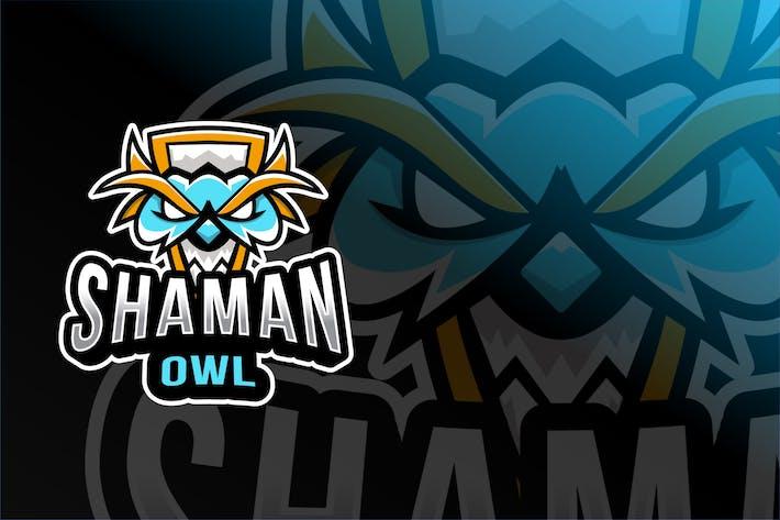 Shaman Owl Esport Logo Template
