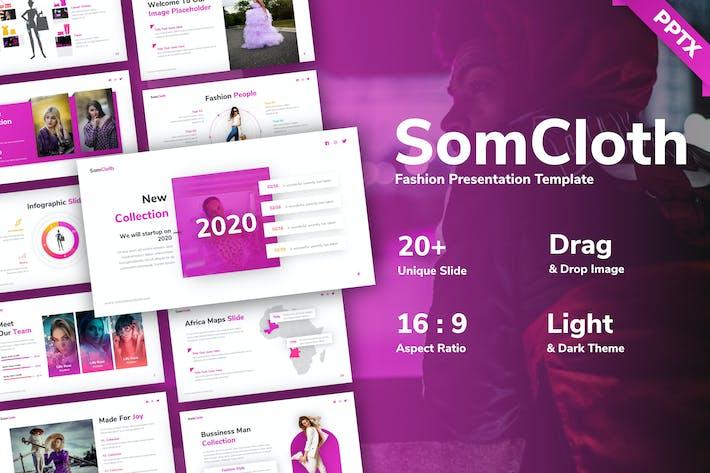 Шаблон презентации моды Somcloth