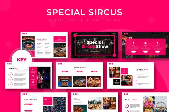 Thumbnail for Special Sircus - Keynote Template