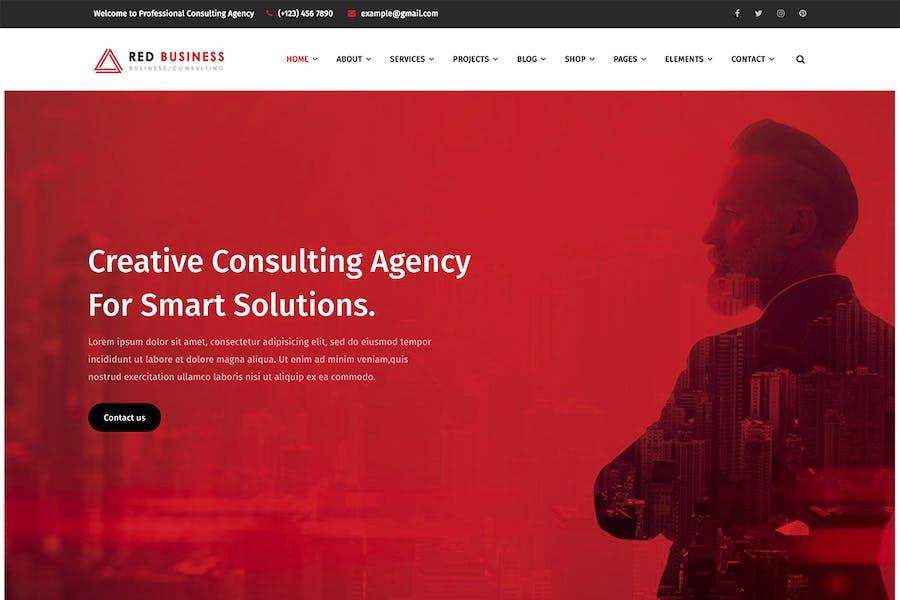 RedBiz - Finance & Consulting Multi-Purpose WordPr