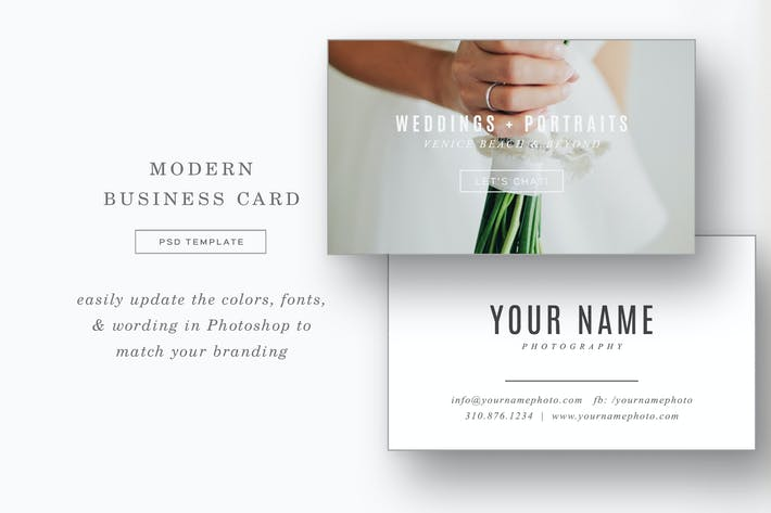 Thumbnail for Modern Photographer Business Card Template