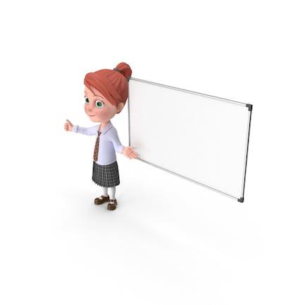 Cartoon Girl Grace At Presentation