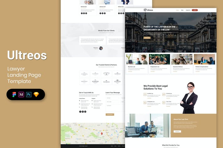 Thumbnail for Lawyer - Landing Page Template