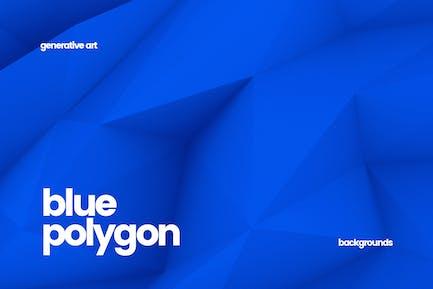 Fondos de polígonos azules