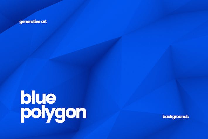 Thumbnail for Blue Polygon Backgrounds