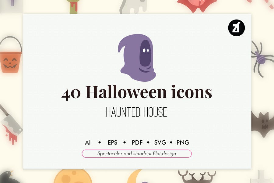 40 Halloween elements
